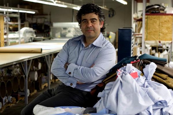 Antonio Valente At His Factory In Canada