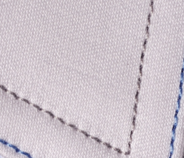 This Bespoke White Shirt Features Dual Color Stitching On The Collar