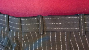 All belt loops and back wiastbands match on all Antonio Valente trousers.